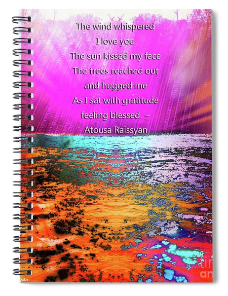 Spiral Notebook featuring the digital art Feeling Blessed by Atousa Raissyan