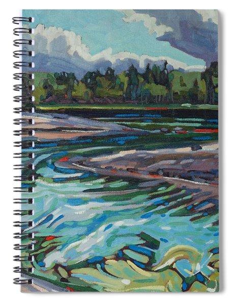 Jim Afternoon Rapids Spiral Notebook