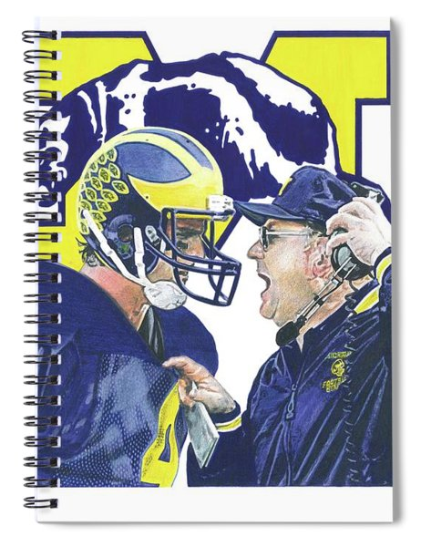 Jim Harbaugh And Bo Schembechler Spiral Notebook