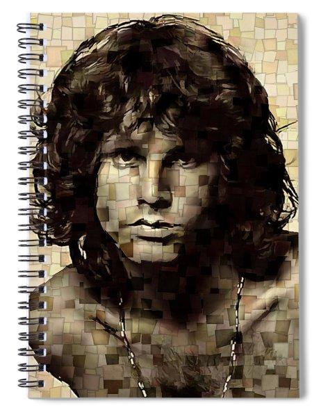 Jim Morrison Cubism Spiral Notebook