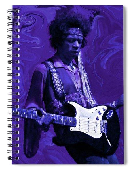 Jimi Hendrix Purple Haze Spiral Notebook