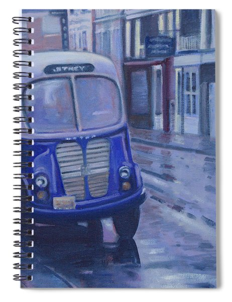 Jitney Ride In The Rain Spiral Notebook