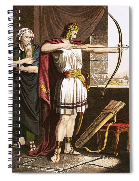 Joash Shooting Arrows At The Command Of Elisha Spiral Notebook
