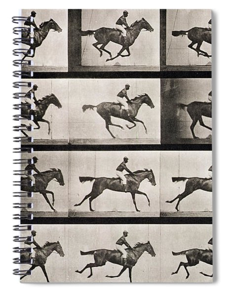 Jockey On A Galloping Horse Spiral Notebook