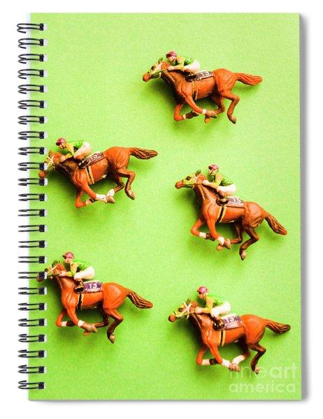 Jockeys And Horses Spiral Notebook