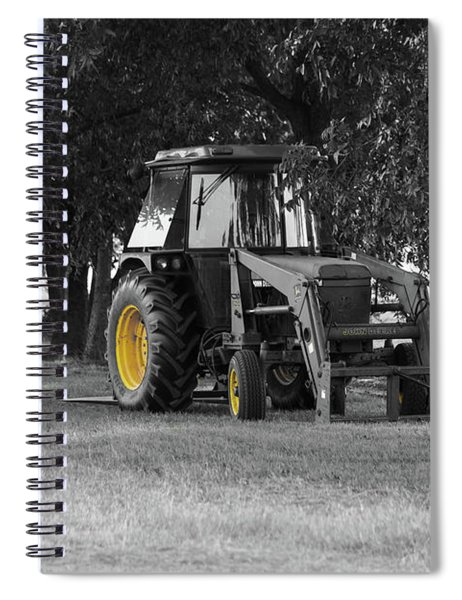 Spiral Notebook featuring the photograph John Deere 620 In Selective Color by Doug Camara