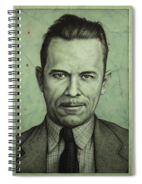 Spiral Notebook featuring the painting John Dillinger by James W Johnson