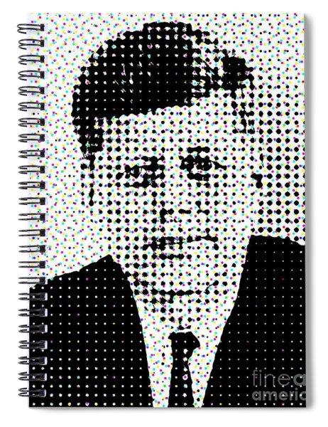 John F Kennedy In Dots Spiral Notebook