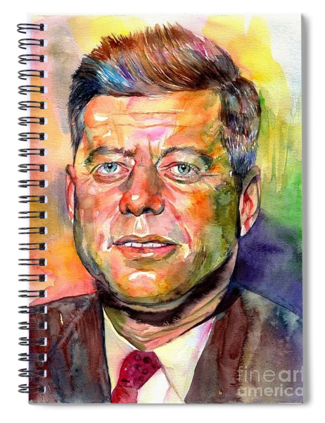 John F. Kennedy Watercolor Spiral Notebook