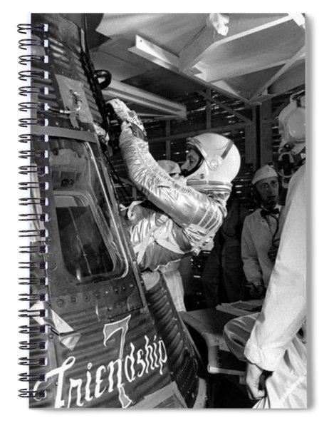 John Glenn Entering Friendship 7 Spacecraft Spiral Notebook