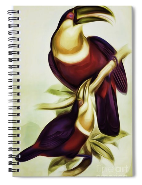 John Gould And Edward Lear Family Of Toucans Interpreted Spiral Notebook