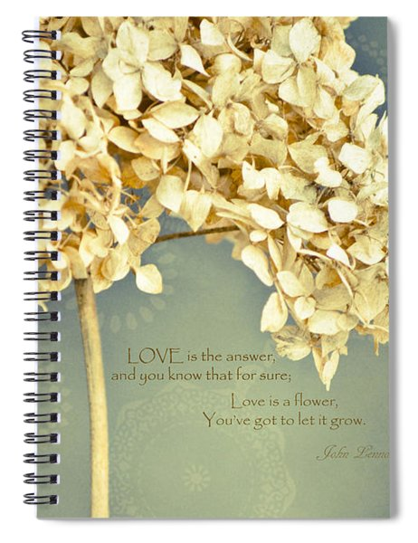 John Lennon Love Spiral Notebook