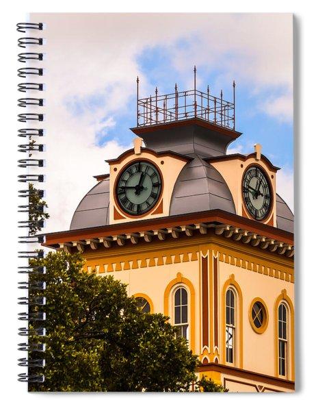 Spiral Notebook featuring the photograph John W. Hargis Hall Clock Tower by Ed Gleichman