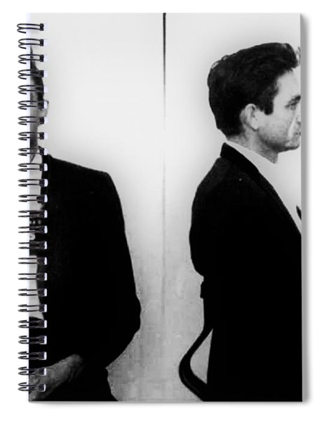 Johnny Cash Mug Shot Horizontal Spiral Notebook
