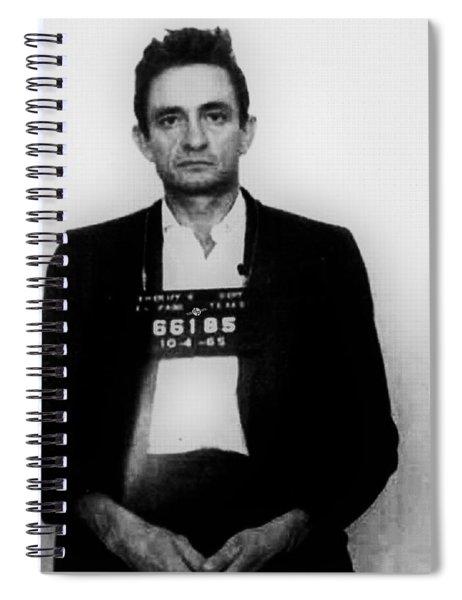 Johnny Cash Mug Shot Vertical Spiral Notebook