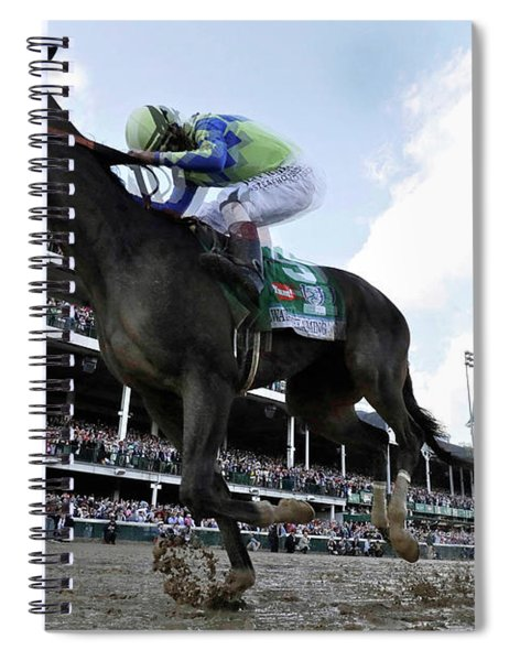 Always Dreaming, Johnny Velazquez, Looking Back, 143rd Kentucky Derby, 2017 Spiral Notebook