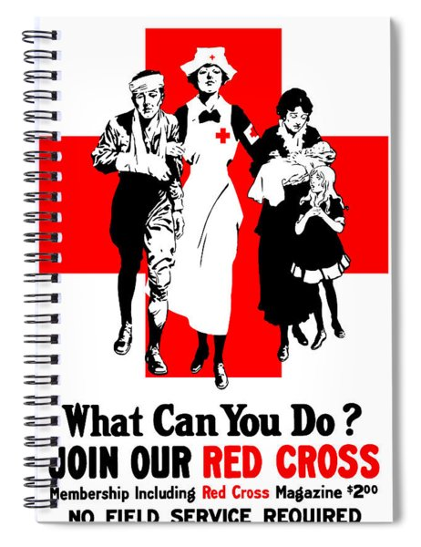 Join Our Red Cross Spiral Notebook