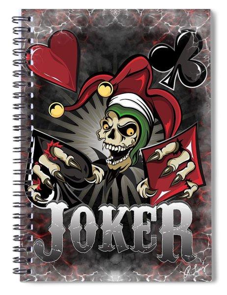Joker Poker Skull Spiral Notebook