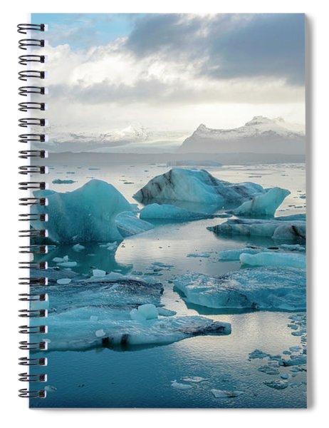 Jokulsarlon, The Glacier Lagoon, Iceland 6 Spiral Notebook