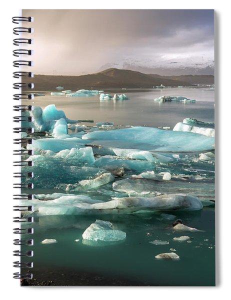 Jokulsarlon The Magnificent Glacier Lagoon, Iceland Spiral Notebook