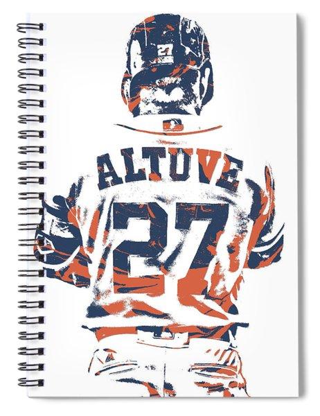 Jose Altuve Houston Astros Pixel Art 10 Spiral Notebook