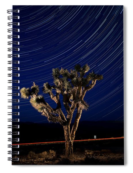 Joshua Tree And Star Trails Spiral Notebook