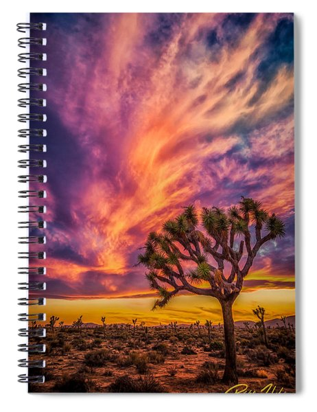 Joshua Tree In The Glowing Swirls Spiral Notebook