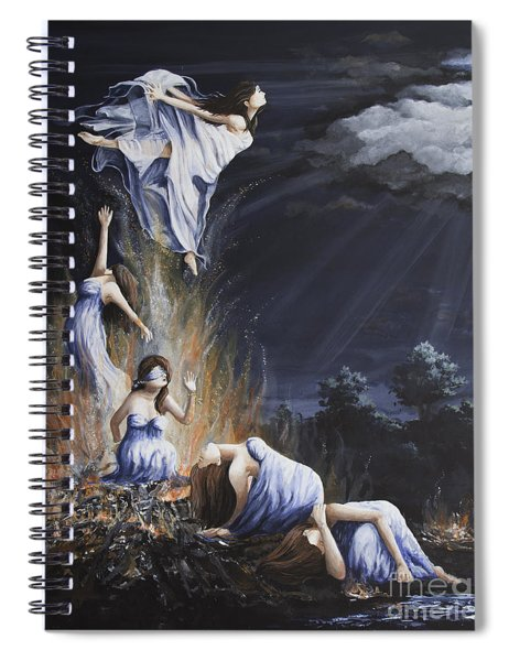 Journey Into Self Female Spiral Notebook