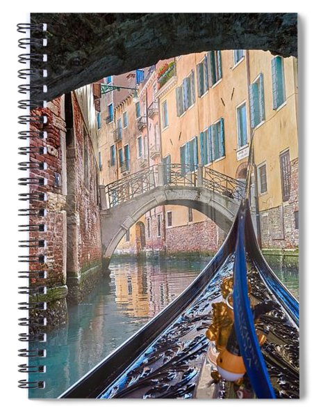 Journey Through Dreams - A Ride On The Canals Of Venice, Italy Spiral Notebook