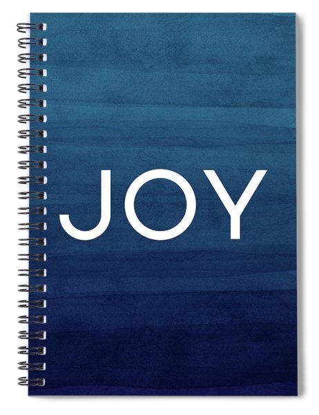 Joy Blue- Art By Linda Woods Spiral Notebook