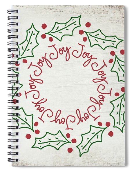 Joy Holly Wreath- Art By Linda Woods Spiral Notebook