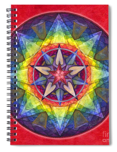 Joy Mandala Spiral Notebook