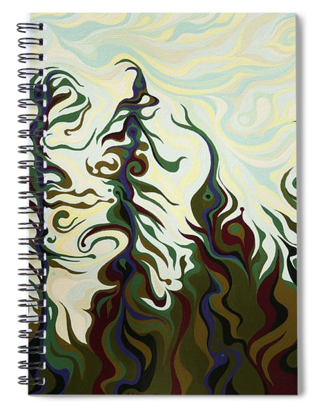 Joyful Pines, Whispering Lines Spiral Notebook