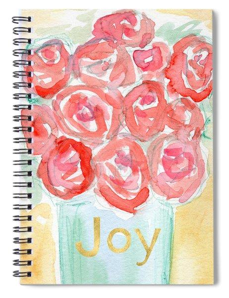 Joyful Roses- Art By Linda Woods Spiral Notebook