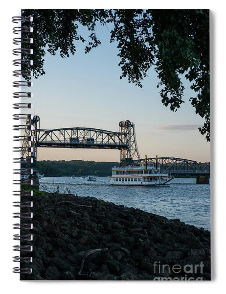 Jubliee II And The Lift Bridge Spiral Notebook