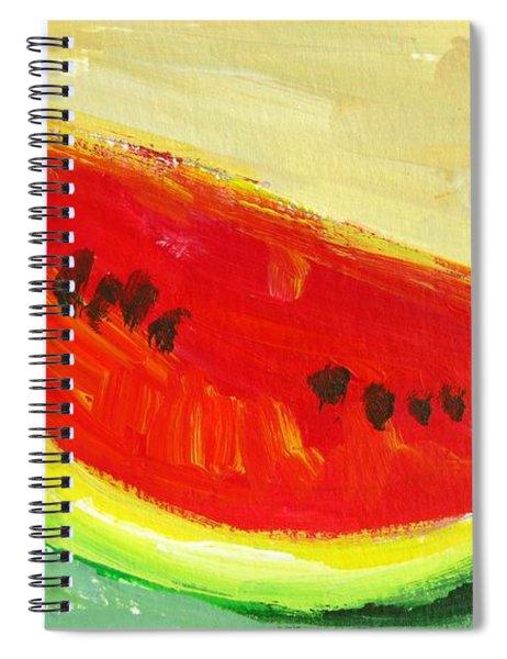 Juicy Watermelon - Kitchen Decor Modern Art Spiral Notebook