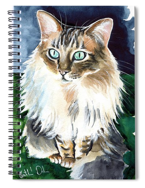 Juju - Cashmere Bengal Cat Painting Spiral Notebook
