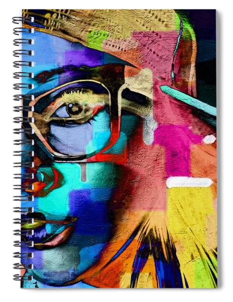 She Abstracted Spiral Notebook