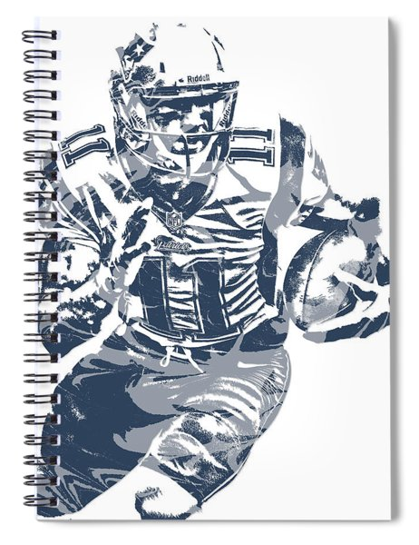 Julian Edelman New England Patriots Pixel Art 13 Spiral Notebook