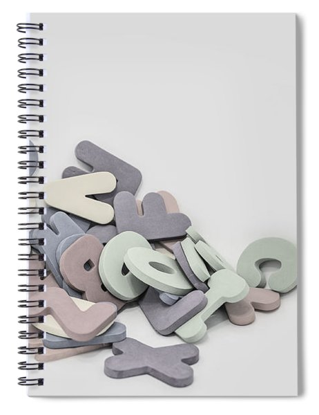 Jumbled Letters Spiral Notebook