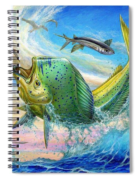 Jumping Mahi Mahi And Flyingfish Spiral Notebook