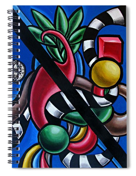 Colorful 3d Abstract Art Painting - Multicolored Original Artwork - Tropical  Spiral Notebook