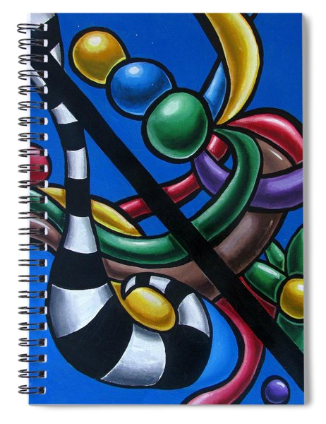 Original Colorful Abstract Art Painting - Multicolored Chromatic Artwork Painting Spiral Notebook