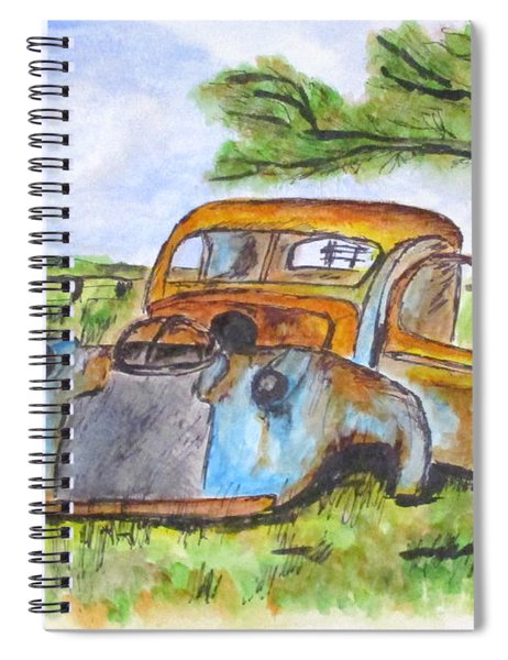 Junk Car And Tree Spiral Notebook