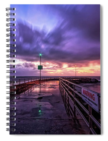 Jupiter Inlet Jetty Spiral Notebook