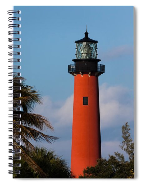 Spiral Notebook featuring the photograph Jupiter Inlet Lighthouse by Ed Gleichman