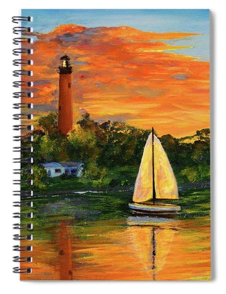 Jupiter Lighthouse Sunrise Spiral Notebook