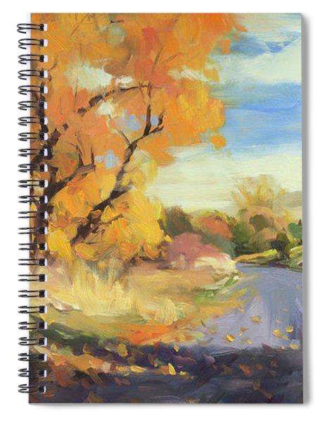 Just Around The Corner Spiral Notebook