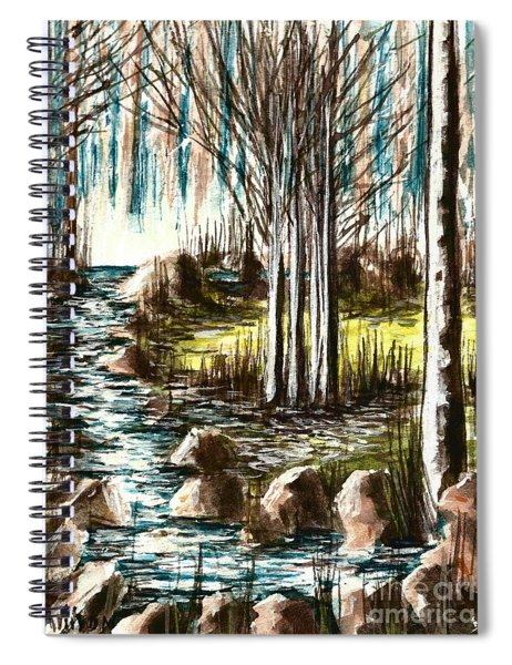 Just Around The Riverbend  Spiral Notebook