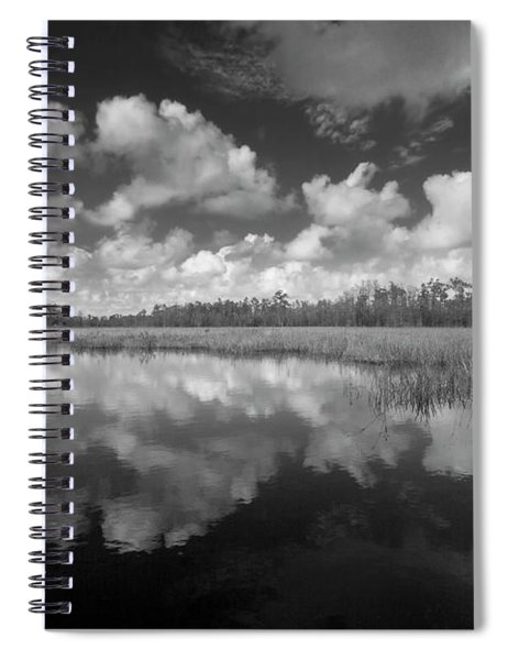 Just Breathe In Black And White Spiral Notebook